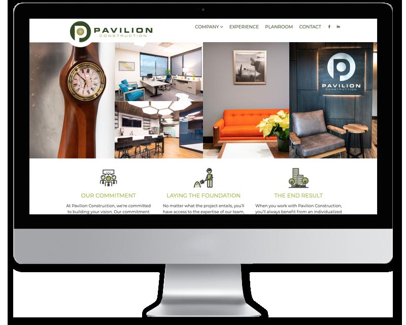 Pavilion Construction • website design