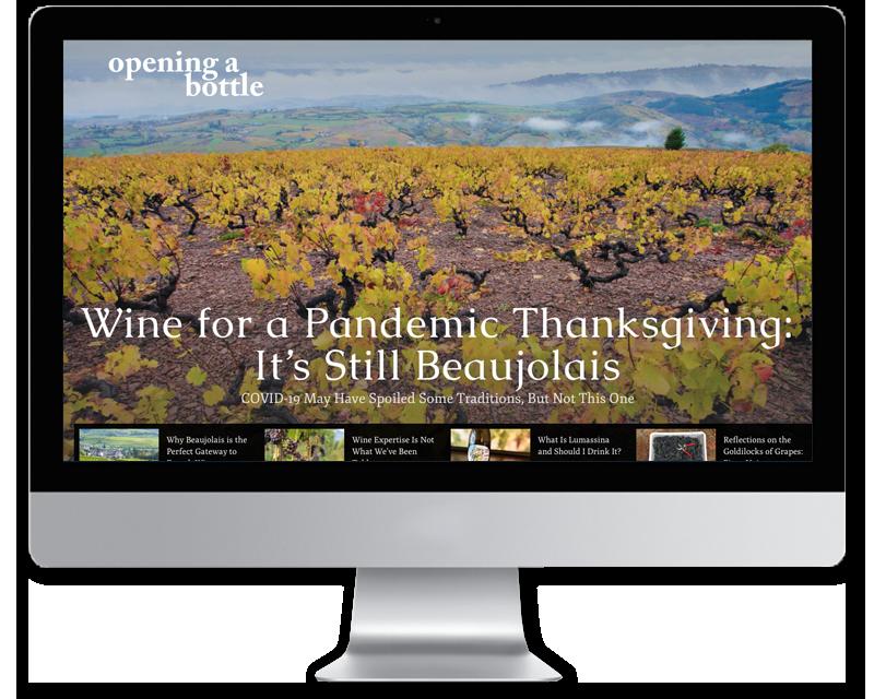 Opening a Bottle • website design