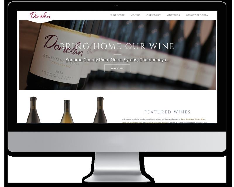Donelan Wines • website design