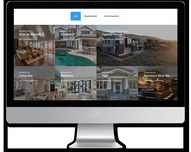 Peninsula Builders + Development • website design