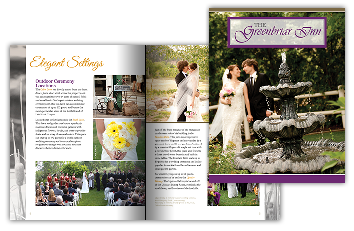 The Greenbriar Inn • Wedding Brochure