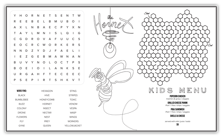The Hornet • Menu Design